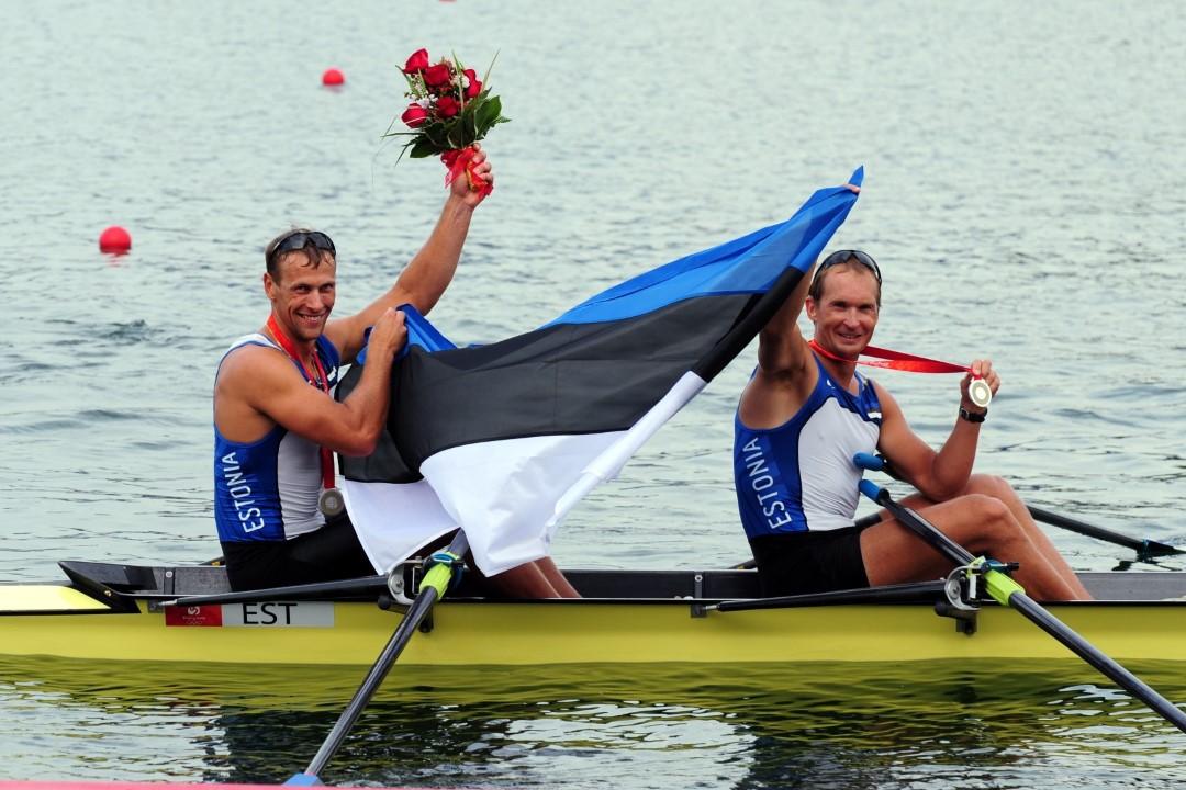 Tõnu Endrekson ja Jüri Jaanson: Pekingi olümpia (2008) hõbemedalistid (Foto: Raigo Pajula)