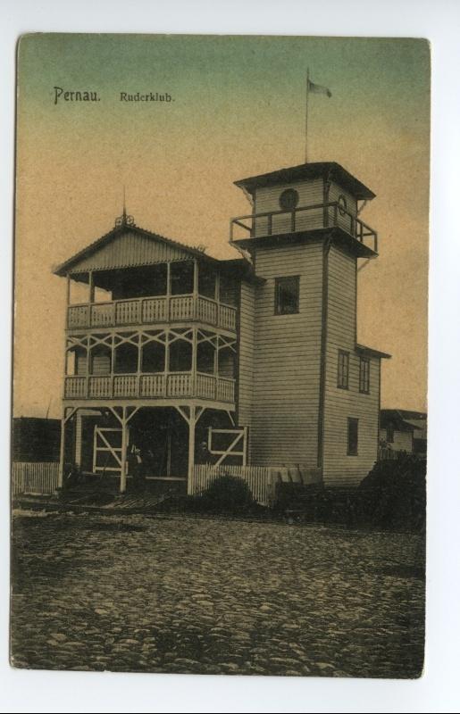 Pernauer Ruder Club ligikaudu 1910. aasta paiku (foto: Eesti Rahva Muuseum)